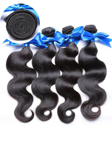 Virgin Cambodian Hair Body Wave - Human Hair Weaves Weft 100g Bundle