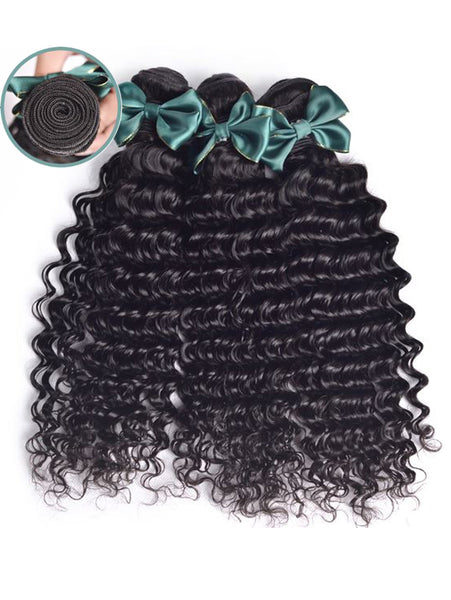 Virgin Cambodian Hair Kinky Curly - Human Hair Weaves Weft 100g Bundle