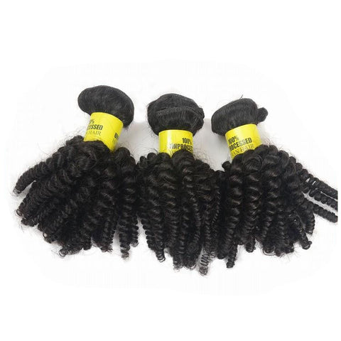 Virgin Peruvian Hair Afro Kinky Curly - Human Hair Weaves Weft 100g Bundle