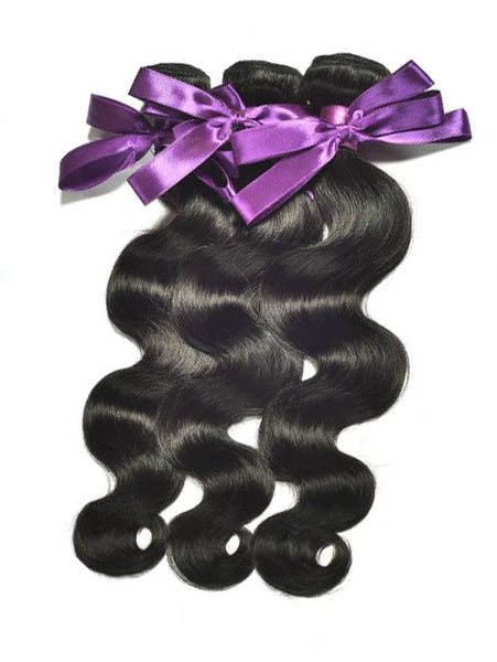 Virgin Indian Hair Body Wave - Human Hair Weaves Weft 100g Bundle