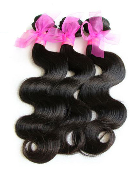 Virgin Malaysian Hair Body Wave - Human Hair Weaves Weft 100g Bundle