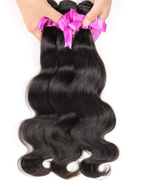 Virgin Peruvian Hair Body Wave - Human Hair Weaves Weft 100g Bundle