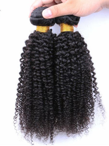 Virgin Peruvian Hair Kinky Curly - Human Hair Weaves Weft 100g Bundle