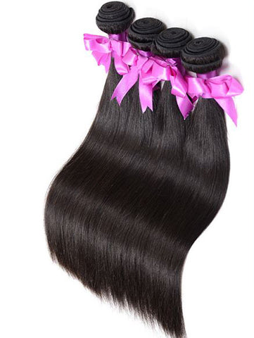Virgin Peruvian Hair Straight - Human Hair Weaves Weft 100g Bundle