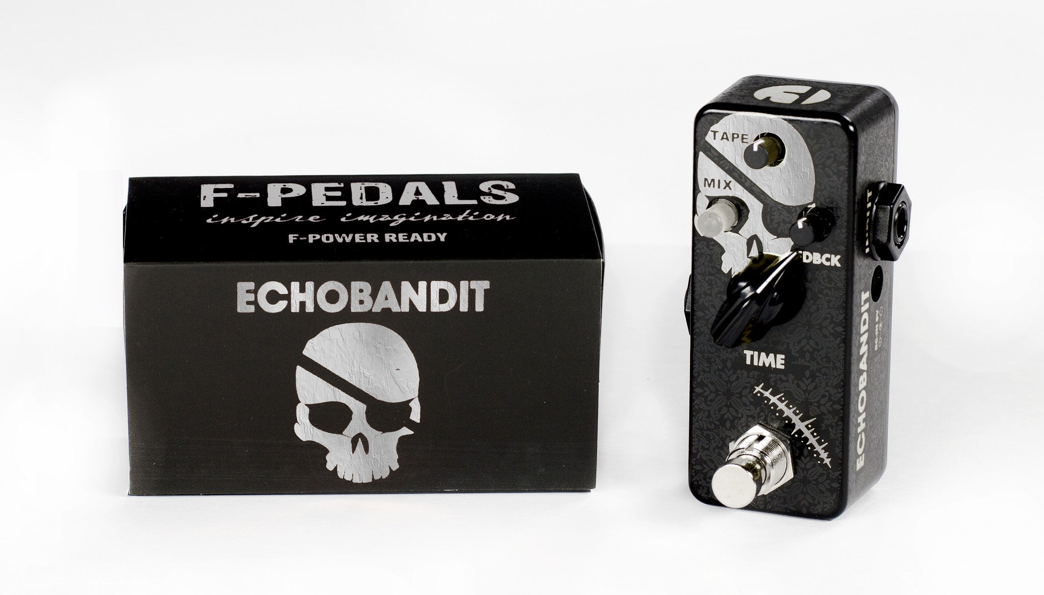 ECHOBANDIT™ SILVER - F-Pedals, - Mini Effect Pedals,