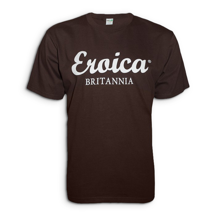 Exclusive Eroica Britannia T-shirt, Chocolate
