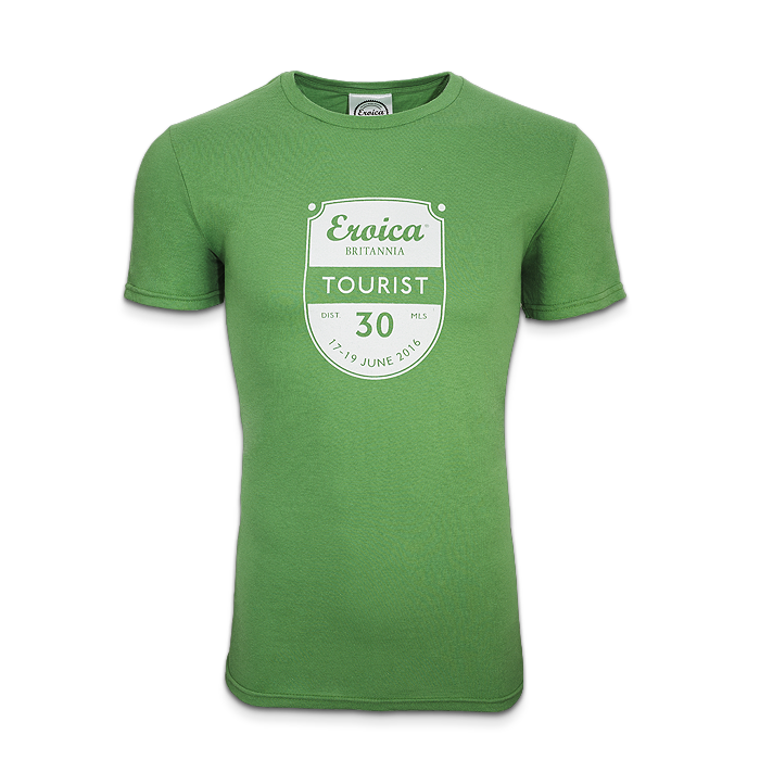 2016 39 tourist 30 miles 39 t shirt eroica britannia for Miles t shirt shop