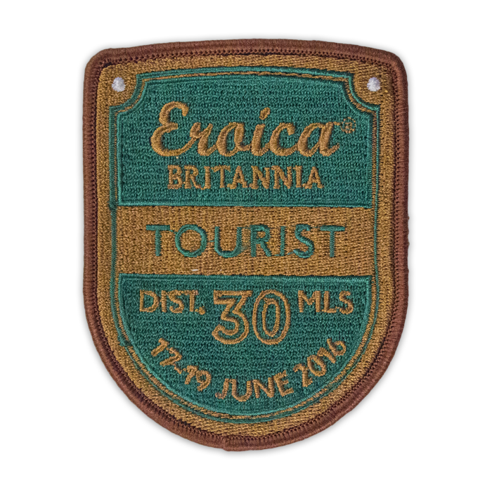 Eroica Britannia Shield Fabric Patch - 30 miles