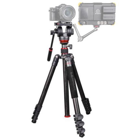 DRAGONFIRE Portable Carbon Fibre Fluid Head Tripod/Monopod Kit (Payload 6kg)