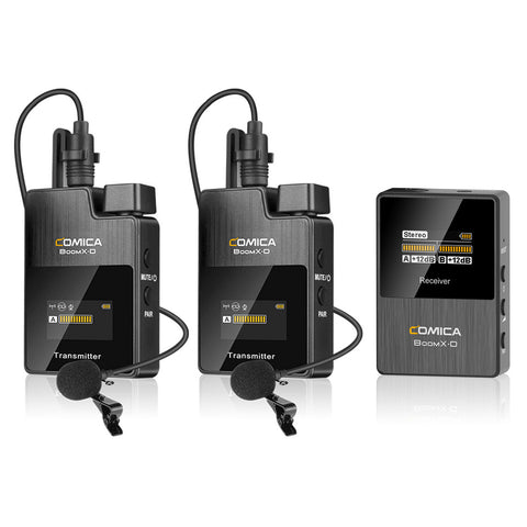 Comica BoomX-D 2.4G Digital Wireless Microphone System for Mirrorless/DSLR Cameras D1/D2