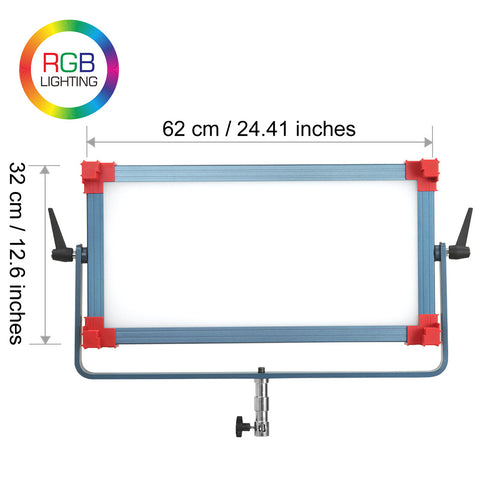 CGPro 2x1 RGB Soft LED Panel Bi-Colour 2700K-9999K DMX