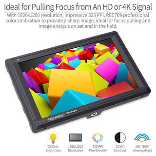 FEELWORLD FW279 7 Inch Ultra Bright 2200nit Daylight Viewable Field Monitor  4K HDMI In Out