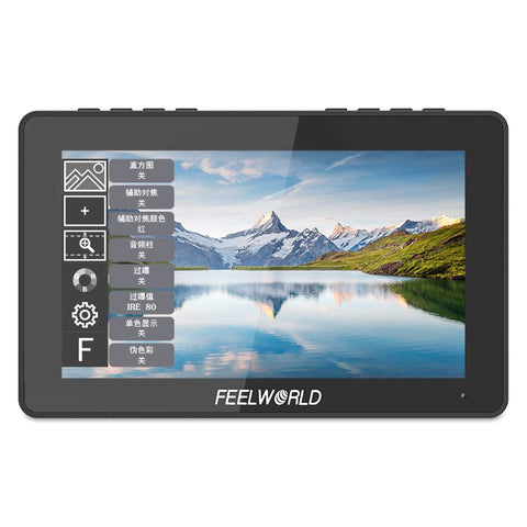 FEELWORLD F5 Pro 5.5 Inch Touch Screen Monitor 1920x1080 4K HDMI Input Built-in  F970 Power Adapter