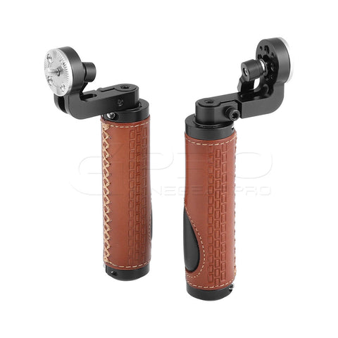 CGPro ARRI Rosette Leather Handgrip M6 Male Threads For DSLR Shoulder Rig (A Pair)