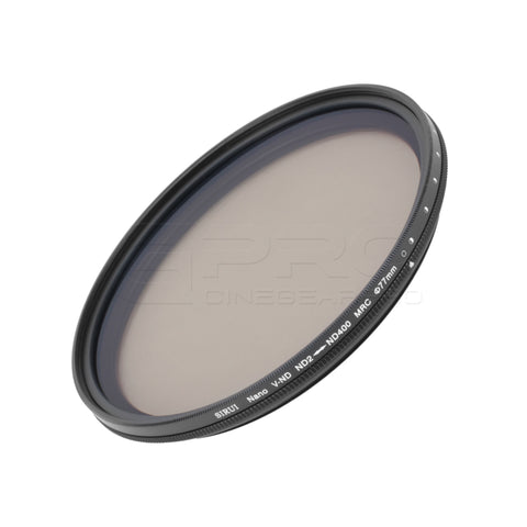 SIRUI ND2-ND400 Variable ND Neutral Density 0.3 to 2.4 Filter (1 to 8-Stop) 77mm/82mm
