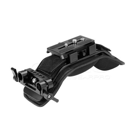 CGPro Shoulder Pad With Manfrotto Quick Release Plate And 15mm Rail Clamp
