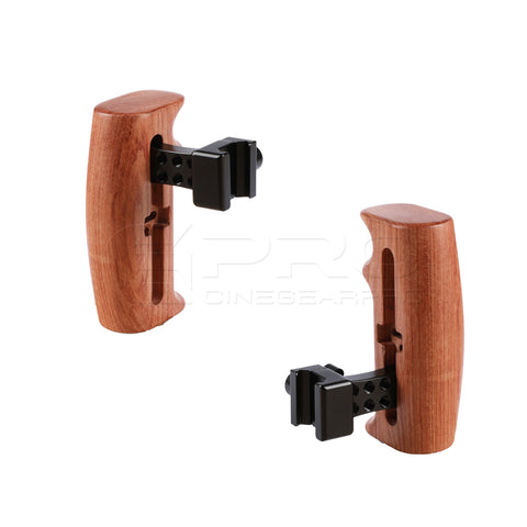 CGPro Wooden Handle Grip With NATO Clamp Connection For DSLR Camera Cage Rig (Either Side)