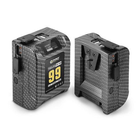 CGPro 99Wh Pocket Size V-Mount Battery 15A 6875mAh 2x D-Tap 14.4V 2x USB-A 5V