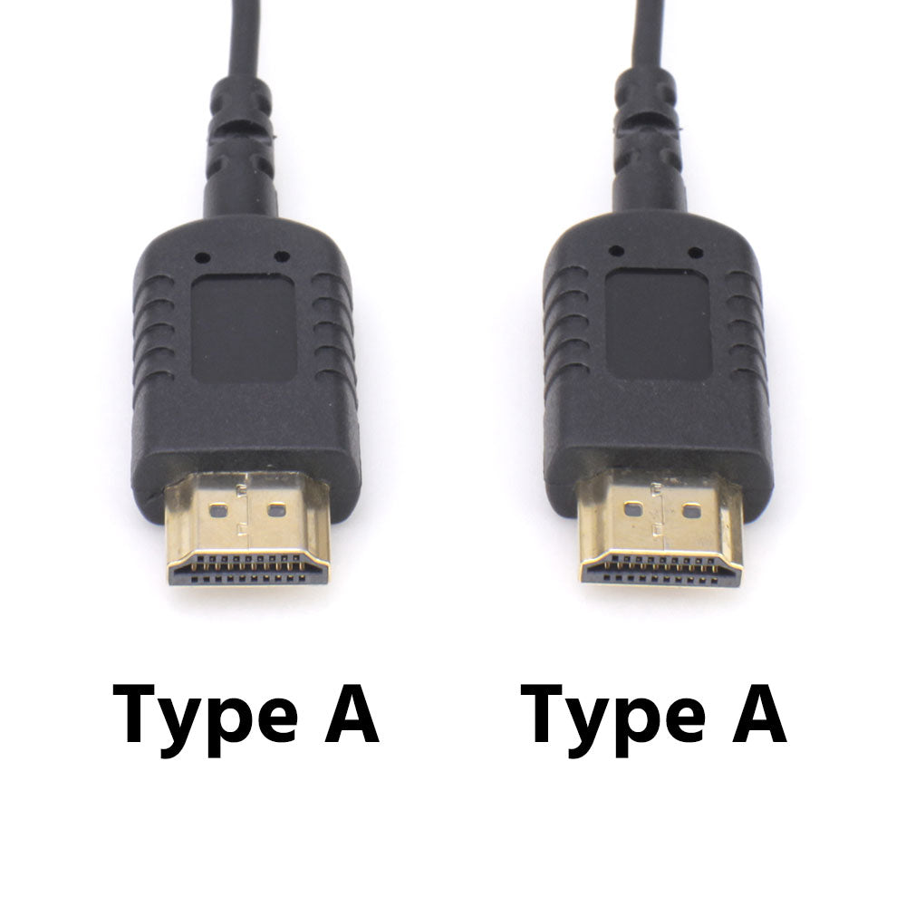 Short Flat Light HDMI Cable Mini HDMI Straight Male to Standard HDMI Full HDMI Male Straight for Canon 5D3 5D2 Panasonic lumix GH3 GH2 Sony nex 5N 5T 5R 7N DJI Black 20CM