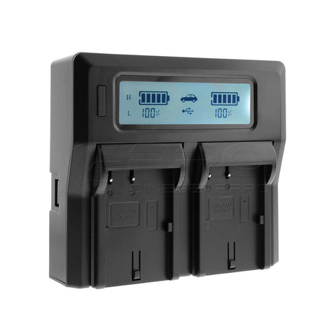 CGPro DMW-DCC12 Dual Digital Battery Charger w/ LCD Display For BLF19E