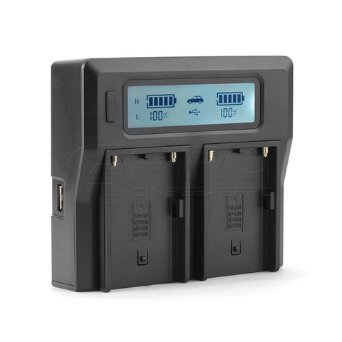 CGPro BP-U Dual Digital Battery Charger w/ LCD Display For Sony BP-U75/U30/U60