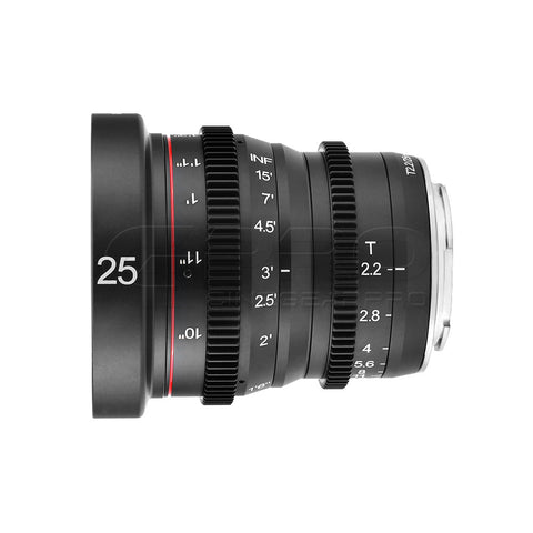 MEIKE 25mm T2.2 Manual Focus Cinema Prime Lens