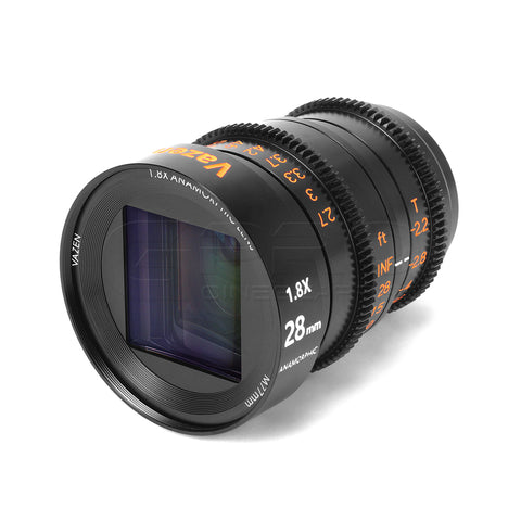 Vazen 28mm T2.2 1.8x Anamorphic Lens for Micro Four Thirds Cameras MFT Mount