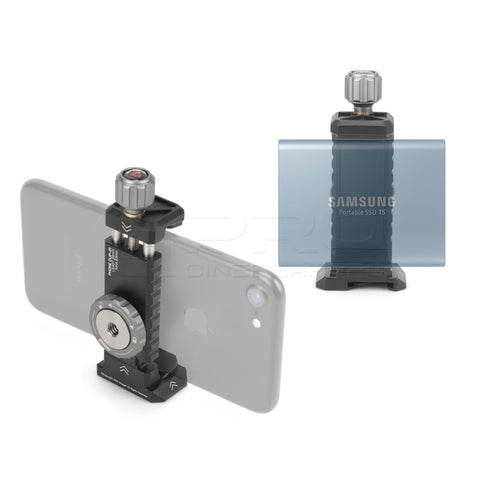 Vlogger Universal Adapter For Mobilephone and SSD Built-in Cold Shoe Mount And 1/4 threaded holes