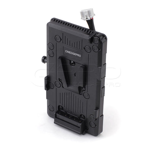 CINEDISKPRO V-Mount Battery Plate for BlackMagic URSA MINI PRO 4K 4.6K Cinema Camera