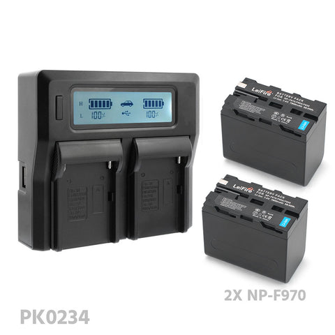 CGPro NP-F Dual Digital Battery Charger w/ LCD Display For NP-F970/750/550