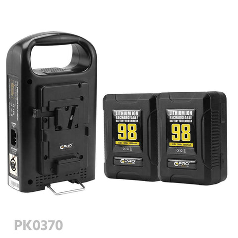 CGPRO V-lock Dual Battery Bundle Kit W/ Dual Charger