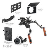 CGPro Pro Camcorder Shoulder Rig With Manfrotto QR Base Plate & ARRI Rosette Dual Handgrip