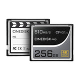 CINEDISKPRO CFast 2.0 Memory Card 4K RAW 256GB/512GB/1TB Recorder - CINEGEARPRO