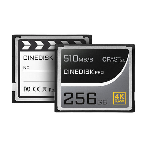 CINEDISKPRO CFast 2.0 Memory Card 4K RAW 256GB/512GB/1TB