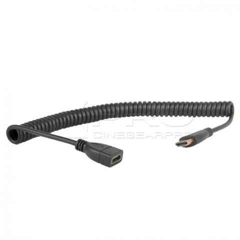 CGPro AM-AF-SC HDMI Spring Coiled Type A Male to A Female Cable