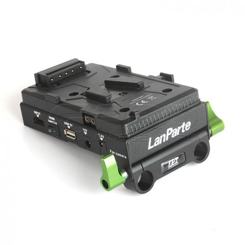 LanParte VBP-01 Pro V-Mount Power Distributor w/ HDMI Splitter for 15mm Rails System for 5D MarkII/III/BMCC/FS700