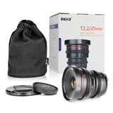 MEIKE 25mm T2.2 Manual Focus Cinema Prime Lens Lens - CINEGEARPRO