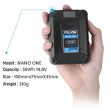 FXLION Nano One Pocket  50Wh 14.8V V-Mount Lithium-Ion V-Lock Battery