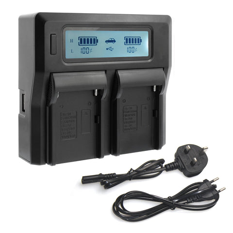 CGPro Dual Channel Charger with LCD Display For NP-F Battery