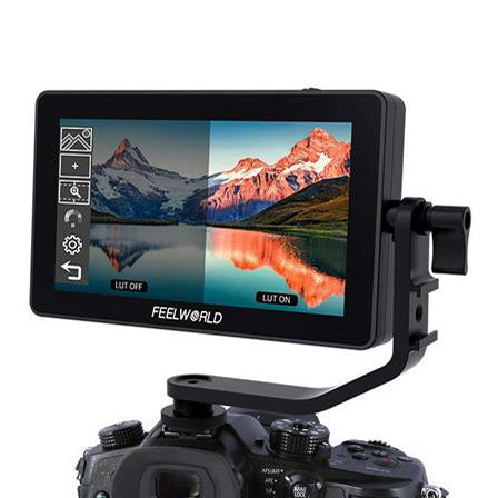 FEELWORLD F6 PLUS 5.5 Inch 3D LUT Touch Screen Camera Field Monitor HDMI FHD Support 4K Input Output