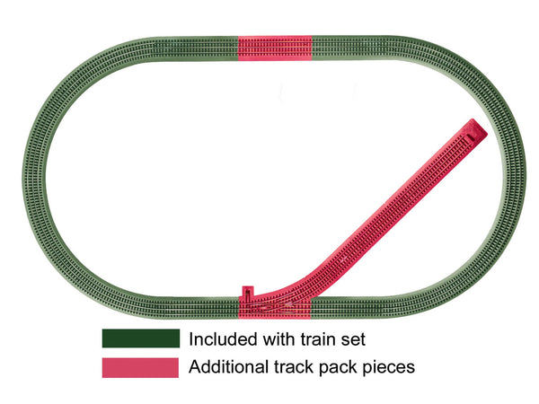 LIONEL 6-12044 FASTRACK SIDING TRACK ADD-ON TRACK PACK