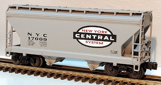 Lionel 6-17009 New York Central Two Bay Covered Hopper Standard 'O'