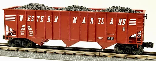 Lionel 6-17129 Western Maryland Three bay Hopper with Coal Load Standard 'O'