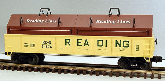 Lionel 6-17405 Reading Gondola with Coil Covers Standard O