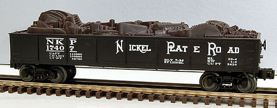Lionel 6-17407 Nickel Plate Road Gondola with Junk Load Standard O