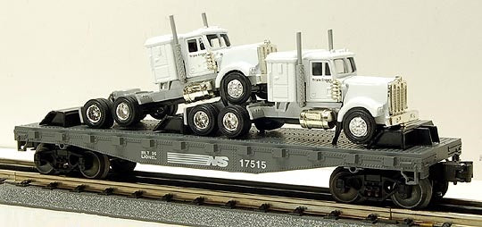 Lionel 6-17515 Norfolk Southern Flatcar with Tractors