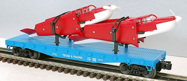 Lionel 6-17516 Texas and Pacific Flatcar with Two Beechcraft Bonanza Airplanes