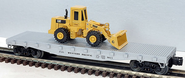 Lionel 6-17517 Western Pacific Flatcar with Ertl Die-cast Caterpillar Frontloader
