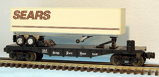 Lionel 6-19411 Nickel Plate Road Flatcar with Sears Trailer