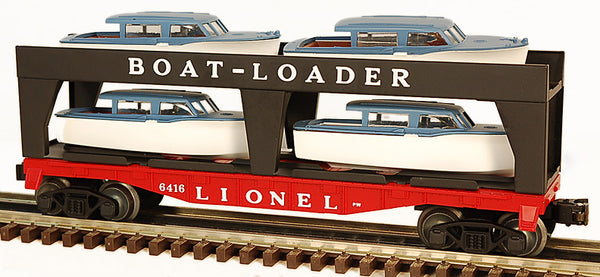 Lionel 6-19428 Postwar Celebration Series Flatcar With Boatloader